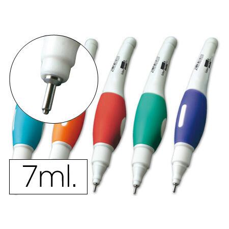 Stylo correcteur LIDERPAPEL pointe métal 1.6mm grande précision coloris assortis 7ml.