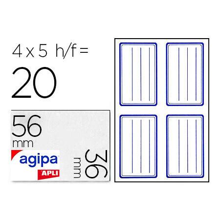 Étiquette adhésive 3.6x5.6cm APLI x 20 unités