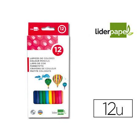 12 Feutres de couleur 2 pointes LIDERPAPEL