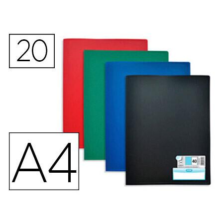 Protège-documents 20 pochettes 40 vues A4 ELBA