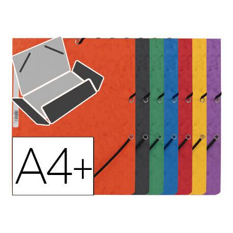 Chemise cartonée avec 3 rabats à élastique Q-CONNECT pour feuilles A4