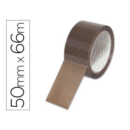 Ruban adhésif polypropylène 60 microns 50Cmx 6.6Cm coloris havane. QCONNECT