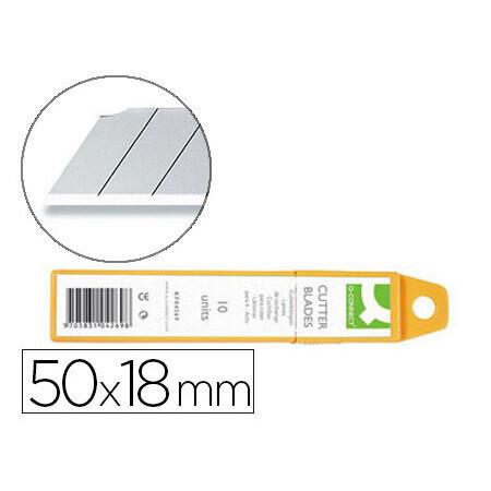 12 Lames de cutter acier inoxydable 18mm Q CONNECT