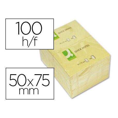 Bloc-notes 7.5cm x7.5cm 100 feuilles Q CONNECT