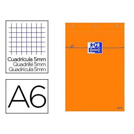 Bloc papier A7 bureau OXFORD 7.4cm x 10.5cm, papier vélin surfin 80g