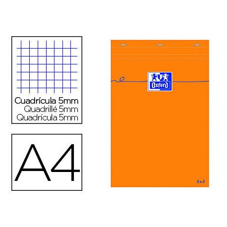 Bloc papier A4 bureau OXFORD 21 x 29.7cm papier vélin surfin 80g
