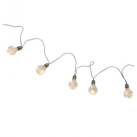 Guirlande 10 ampoules 50 leds blanc chaud 2m