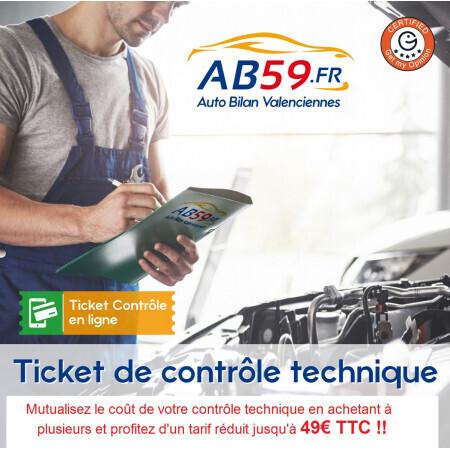 Pack Contrôle Technique de 49€ à 59€ | AB59 Valenciennes