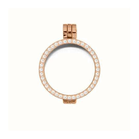 Médaillon My Imenso argent pl-or rose 24 mm