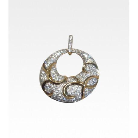 pendentif diamant bicolore 0.95mm