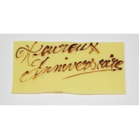 """Plaquette en chocolat """"Heureux Anniversaire"""""""