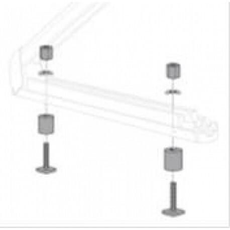 Adaptateur barres de toit pour portage de skis - Réf. 77 11 421 178