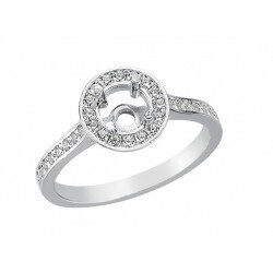 monture bague or gris 750/1000 diamants 0,30 carats