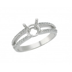 bague or gris 750/1000 diamants 0.22 carats