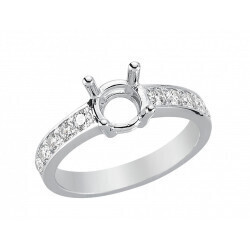 bague or gris 750/1000 diamants 0.47 carats