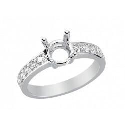 bague or gris 750/1000 diamants 0.47 carats