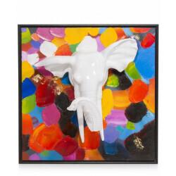 Peinture 3D multicolor elephant