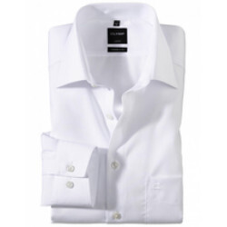 Chemise Modern Fit confortable Popeline Blanche