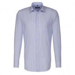 -Chemise Modern Fit confortable Raye Bleu