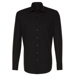 Chemise Modern Fit confortable Popeline Noire