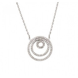 Collier cercle or blanc 750/1000 et diamants
