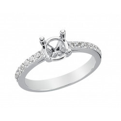 Bague or gris 750/1000 diamant 0.27 carat
