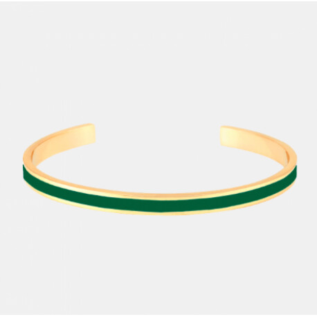 Bracelet Bangle-up vert émeraude