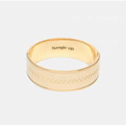Bracelet Bangle-up bollystud blanc sable